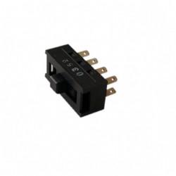 Conmutador a cursor micromax 3 posiciones y 8 terminales 49HF025