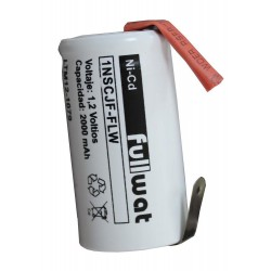 Bateria 1,2V 2000MAH con terminales NI-CD (alto 42 mm, diametro 22MM) (1NSCJF-FLW)  BATE-SC-L