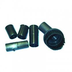 Kit cepillo redondo universal 30,32,36mm diametro (solo se sirve el cepillo redondo y los tres adaptadores)