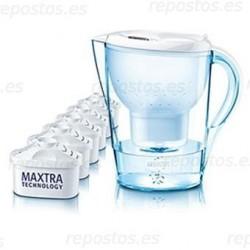 Jarra filtrante brita marella + 5 filtros Maxtra BRI155
